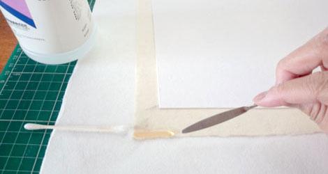 作業例2: 感圧テープの除去